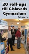 Gislaveds gymnasiums roll-ups
